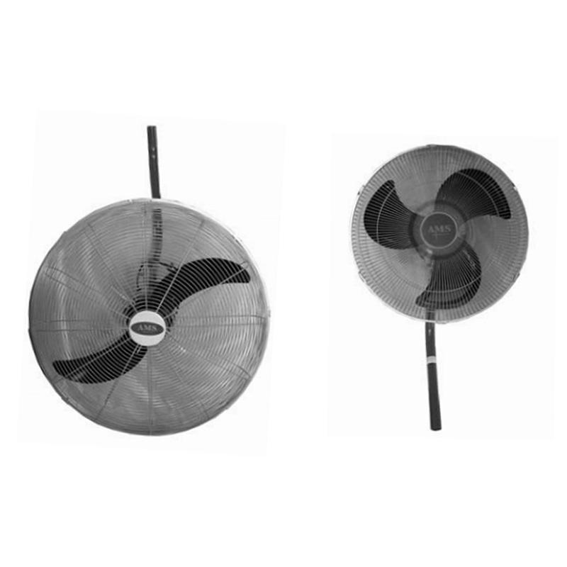LARGE BLACK WALL FAN 450mm